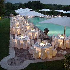 wedding reception in Italy.