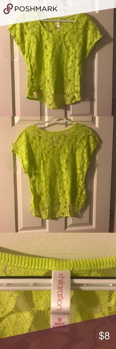 Neon Top Good condition, great for summer Xhilaration Tops