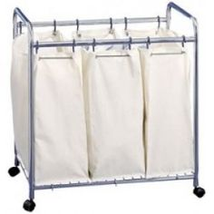 Organize It All  @Linens 'N Things  Organize It All Mobile Laundry Sorter w/3 Canvas Bags and 12 Hooks Nat  Price: $92.99