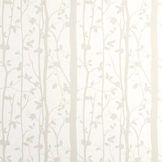 Cottonwood White Leaf Wallpaper With its attractive leaf design, this printed washable wallpaper features pearlescent inks and is suitable for all interiors including well-ventilated kitchens and bathrooms. per roll Feature Wallpaper, Tree Wallpaper, White Wallpaper, Hall Wallpaper, Neutral Wallpaper, Bedroom Wallpaper, Wallpaper 2016, Spring Wallpaper, Beautiful Wallpaper