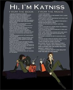 Katniss book vs. movie