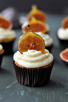 Honig Feigen Cupcakes mit Mascarpone