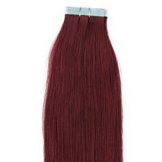 Beauty7 18 Inch Tape in Premium Real Human Hair Extensions 10 Pieces 23g Straight Women Beauty Salon Style Design 15 Colors (#99j Red Plum). Imported. 23g/pack, 10 pieces, super hold tape in hair extensions. Made from real human hair, can be permed, straightened & washed. As the extensions have been previously chemically processed, it's not recommended to color the hair again. Adds instant length and volume, silky, soft, and tangle free. As the length of real human hair differs, the...