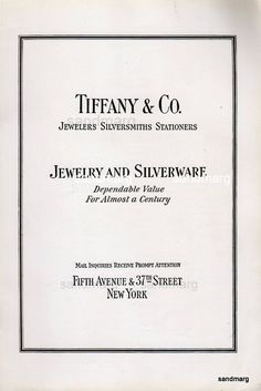 1929 Tiffany and Co