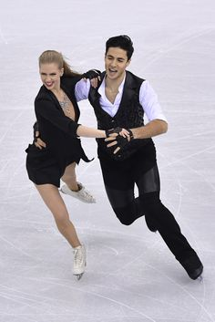 Kaitlyn Weaver Andrew Poje of Canada compete in the Ice Dance Short Dance during ISU Four Continents Figure Skating Championships - Gangneung -Test Event For PyeongChang 2018 at Gangneung Ice Arena on February 16, 2017 in Gangneung, South Korea.