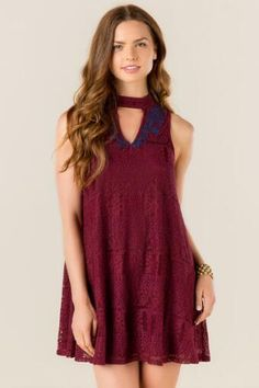Loraine Embroidered Lace Dress