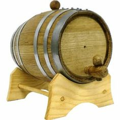 oak wine barrels. Oak Beverage Dispensing Barrel With Galvanized Steel Bands: 2 Liter - Whiskey By KegWorks. Wine Barrels