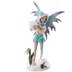Mystic Realms Collection Fantasy Snow Fairy with Giant Snowball If you like fantasy and fairytale figurines then you will love our new range of Dragon Figurines, Fairy Figurines, Lulu Shop, Snow Fairy, Nature Spirits, Snowball, Turquoise, Mythical Creatures, Faeries