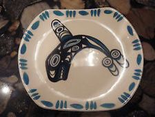 David Lambert pottery-Vancouver, B.C. Killer whale plate
