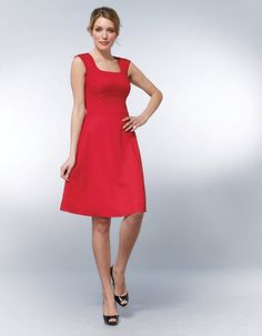 """Swing Dress in Red by Pepperberry   from Pepperberry """"Clothes designed with your boobs in mind."""""""