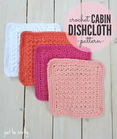 Free Crochet Patterns for Spring Cleaning,Crochet Cabin Dishcloth Pattern Diy Crochet Dishcloth, Baby Blanket Crochet, Free Crochet, Crochet Baby, Doilies Crochet, Crochet Mandala, Crochet Afghans, Crochet Squares, Crochet Blankets