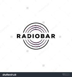 Radio Bar - Abstract Logo Design Vector Template. Logotype Icon. - 373576753 : Shutterstock Design Vector, Logo Design, Graphic Design, Radio Icon, Radio Design, Bar Logo, Music Logo, Abstract Logo, Logo Ideas