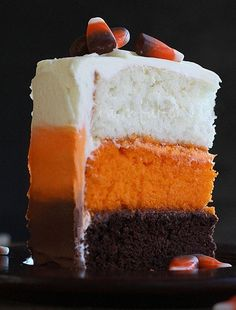 Candy Corn Cake , must make ! - repinned to include link to recipe