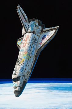 space shuttle met graffiti