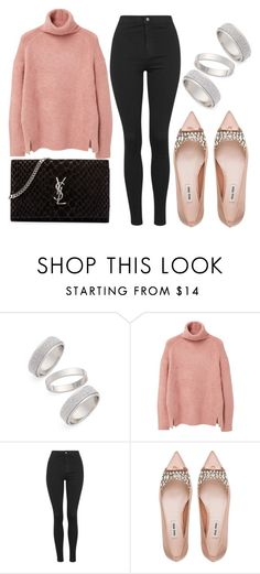 """Set#314"" by sobiyet ❤ liked on Polyvore featuring Topshop, MANGO, Miu Miu, Yves Saint Laurent, women's clothing, women's fashion, women, female, woman and misses"
