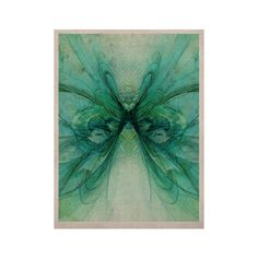 """Alison Coxon """"Butterfly Blue"""" Green Black KESS Naturals Canvas (Frame not Included)"""