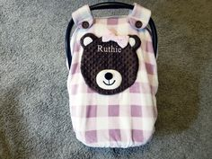 Personalized Super Soft Fitted Bear Car Seat Canopy With Peek-A--Boo Opening Soft & Comfy and Minky by lindasnd on Etsy Baby Carrier Cover, Sewing Notions, Peek A Boos, Baby Sewing, Baby Things, Canopy, Car Seats, Comfy, Babies