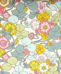 Boxford A Tana Lawn from the SS12 Whitworth collection.     This design was inspired by an early 1900s Liberty Art Nouveau textile at the Whitworth Gallery in Manchester, with stylised roses representing the iconic English Rose.