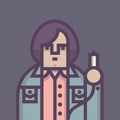 Anton Chigurh - Illustrations of Coen's Movies Characters