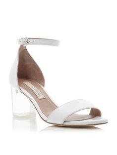 Pied a Terre Jutte perspex block heel sandals