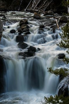 Fire Hole Falls in Yellowstone National Park. View the original photograph in our Gallery - perfect for wall art and travel themed decor.