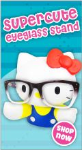 Hello Kitty Eyeglass Stand! omg i need this!