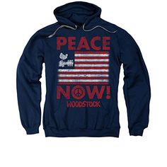 PEACE NOW! -- Woodstock Adult Hoodie Fleece Sweatshirt - http://bandshirts.org/product/peace-now-woodstock-adult-hoodie-fleece-sweatshirt/
