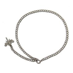 Sterling Silver CZ Dragonfly Anklet