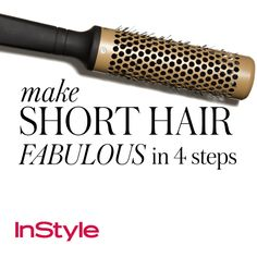 20 Timeless Hair-Care Tips - How to Make Short Hair Fabulous in 4 Steps from #InStyle
