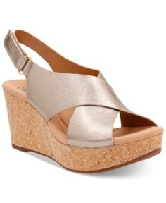 76fd67ae920f Clarks Collections Women s Annadel Eirwyn Wedge Sandals   Reviews - Sandals    Flip Flops - Shoes - Macy s
