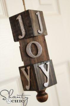 wooden block ornament