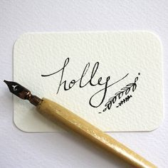 Calligraphy personalised wedding place card £1.50 by Victoria Snape