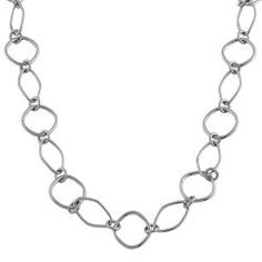 @Overstock - This highly polished necklace features alternating angular oval and rolo links. Crafted of 14-karat white gold, this necklace secures with a lobster claw clasp.http://www.overstock.com/Jewelry-Watches/14k-White-Gold-Open-Fancy-Link-Necklace/5482891/product.html?CID=214117 $435.99