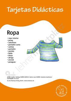 Bildkarten Spanisch: ropa 1