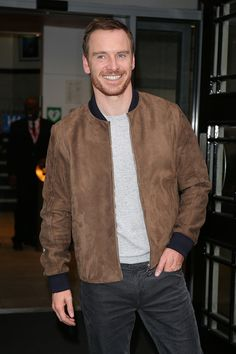 Michael Fassbender seen at BBC Radio 2 on December 9 2016 in London England