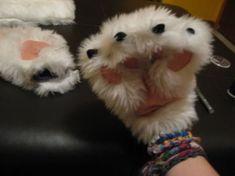 Варежки «кошачьи лапки» своими руками — Своими руками