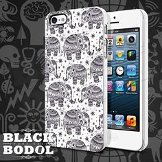 Ethnic Elephant Seamless Phone Case  Elephant Case  by BLACKBODOL, $13.99