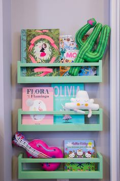 Simply stunning shelfie brimming with fun & colourful treasures