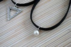 Black Choker Necklace Boho Choker Black by PearlAndShineJewelry
