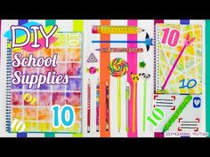 10 DIY School Supplies – Easy Back To School DIY Projects - YouTube