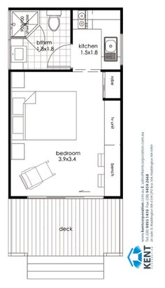 Small Flat Plans small house plan for outside guest house. make that a murphy bed