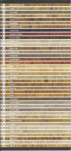 Rubio Monocoat Color chart