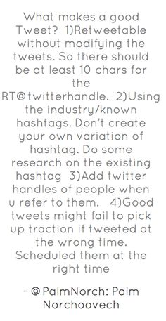 What makes a good Tweet? http://www.marketingxlerator.com/2012/03/07/what-makes-a-good-tweet/