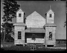 Church, Southeastern U.S., photographed by Walker Evans for the FSA/OWI on 8 x 10 inch film, in 1936. Looking at this at 100% There must have been a boom on churches in the south at this time. åÊ