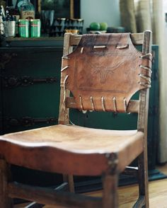 ☻ This Chair would be great with Cowhide Chair, I pinned earlier.
