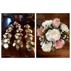 Party flowers: roses, carnations, wax and bb's. 2/7/15