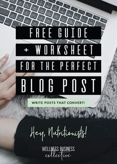 Write the perfect blog posts for your online nutrition business without spending hours in front of you computer! #wellnessentrepreneur #businesstips #bloggingtips #freeguide #howtoblog #howtoblogbetter Small Business Marketing, Business Tips, Coach Website, Free Training, Free Website, Health Coach, Improve Yourself, Coaching, Nutrition