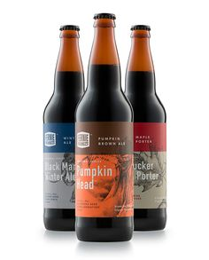 Fernie Brewing Co. by Also Known As Studio (Vancouver)  #beer #label #packaging