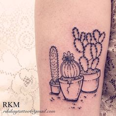 Super fun #cactus tattoo today! by Riki-Kay Middleton, rikikaytattoo@gmail.com Guelph Ontario Canada