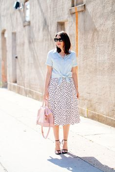 Kendi Everyday - Tied shirt and full skirt